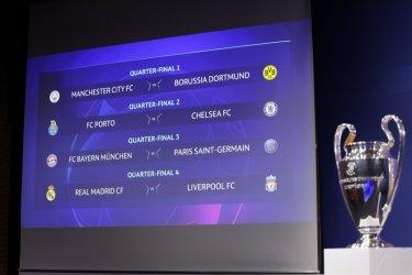Байерн-ПСЖ ще е дербито в четвъртфиналите на Шампионската лига