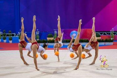 Българският ансамбъл по художествена гимнастика с титла в многобоя в София