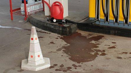 Пиян шофьор скъса маркуч на бензиноколонка
