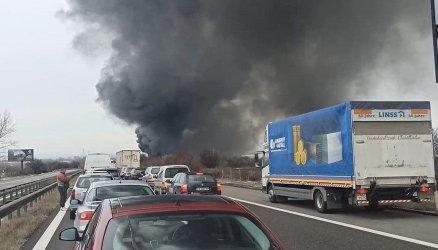 """Спешен ремонт на магистрала """"Тракия"""" след тежката катастрофа"""