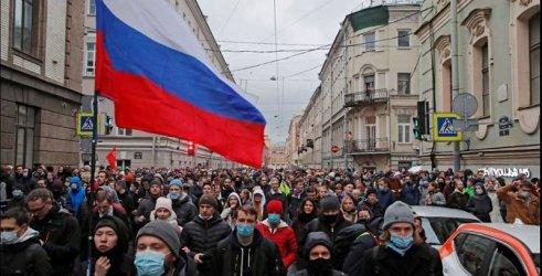 Близо 1800 арестувани на протестите в Русия в подкрепа на Навални