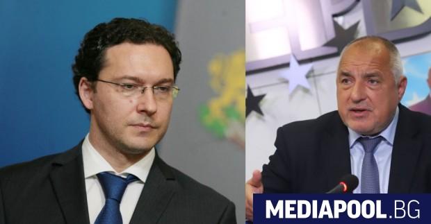 Лидерът на ГЕРБ Бойко Борисов и новоизбраният му партиен заместник