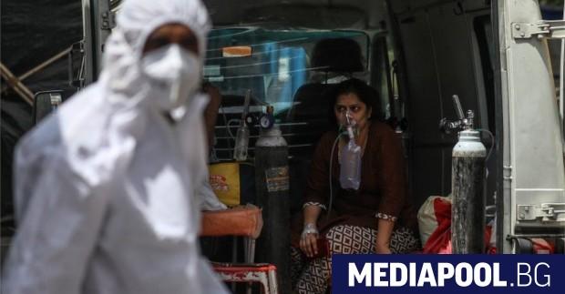 Седемдневната средна заболеваемост от Covid-19 в Индия постави нов рекорд,