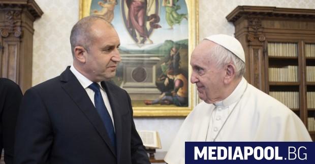 Папа Франциск прие президента Румен Радев и българската делегация във