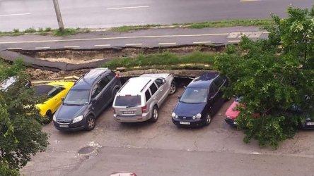 Велоалея се срути върху автомобили във Варна