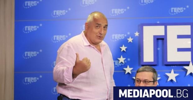 Лидерът на ГЕРБ и бивш премиер Бойко Борисов става