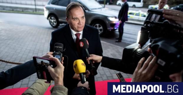 Левоцентристкият премиер на Швеция Стефан Льовен, който беше свален вчера