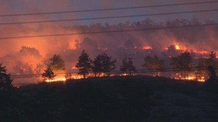 Вертолет се включи в гасеното на пожар в хисарското село Михилци