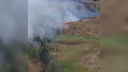 Голям пожар край Кремиковци