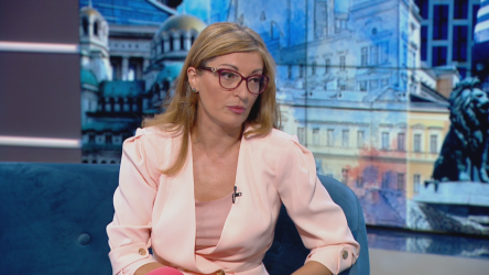 Екатерина Захариева пред БНТ.