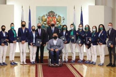 Президентът Румен Радев награди медалистите ни от Токио 2020