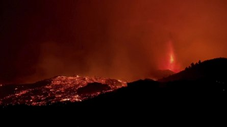 Вулканът на Канарските острови предизвика големи щети