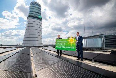 Виенското летище строи най-голямата соларна електроцентрала в Австрия